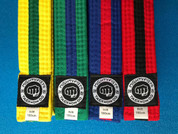 Mightyfist 4cm mixed colour stripe belts