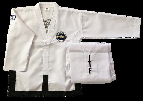 Onyx Traditional ITF Logo Black Belt dobok
