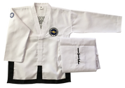 Onyx Traditional ITF Logo Black Belt dobok