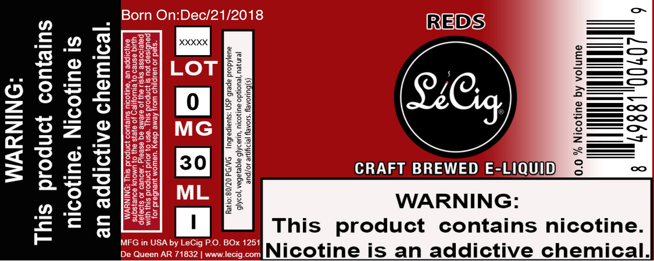 Imported Reds eJuice