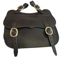Single Leather Saddle Bag