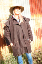 Newmarket's Town & Country 3/4 Length Oilskin Coat