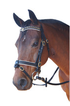 Royal V Padded Browband Crank Bridle - SECONDS