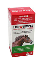 Lice 'N' Simple Pour-On Equine Lousicide