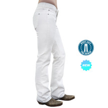 Pure Western By Thomas Cook Womens Riding Boot Cut Jean White - pcp2202014