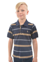 NEW Thomas Cook Boy's Jordan Stripe S/S Polo