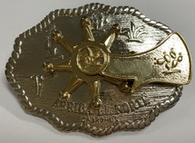 Belt Buckle With Rotating Spur