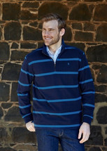 Thomas Cook Mens Wilmington Stripe 1/4 Zip Neck Rugby