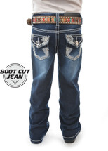 Pure Western Girls Daisy Boot Cut Jeans