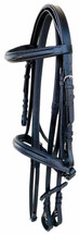 Cambridge Stitched Cavesson Bridle With Rubber Grip Reins