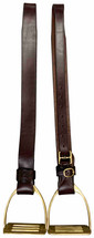 "Australian Made 2"" Shaped Stirrup Leathers"