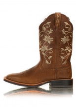 Twisted X Womens Floral Ruff Stock Boot