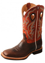 Twisted X Mens Orange Horseman Boot