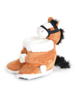 Kids Unisex Fur Boot Pony Slippers