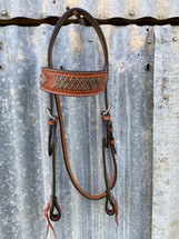 Calgary Plaited Raw Hide Bridle L-110