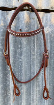Calgary Silver Stud Edge Stitched Bridle L-114