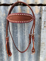Calgary White Buck Stitch Bridle L-111