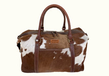 Newmarket's Town & Country Cowhide Weekender Bag