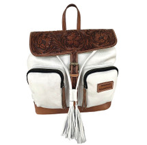Newmarket's Town & Country Leather Daisy Tooled Backpack