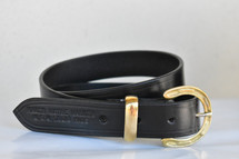 Australian Made Dress Belt With Brass Horseshoe Buckle