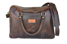 Newmarket's Town & Country Leather Laptop Bag