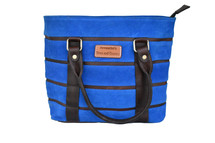 Newmarket's Town & Country Blue Suede Handbag