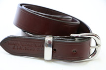 "Australian Made ""Overlander"" Leather Dress Belt With Stainless Fittings"