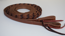 Calgary Laced Leather Split Reins