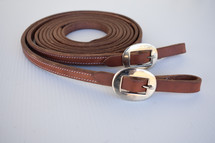 Calgary Weighted Leather Split Reins