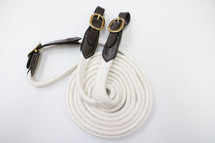 Calgary Cotton Reins with Brass Buckle Ends