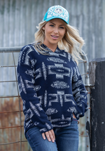 Pure Western Womens Alexandra Knitted Pull Over