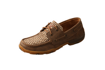 Twisted X Womens Basket Weave Mocs Low Lace Up