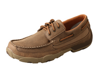 Twisted X Mens Driving Mocs Boat Shoe Lace Up