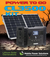CL3500 LITHIUM POWER SYSTEM FITTED WITH 600 WATT PURESINE WAVE INVERTER AND 120 WATT SOLAR PANEL FREE FREIGHT