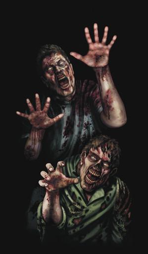 Zombies Halloween Window Poster Decorations