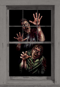 Zombie Poster shown in a window