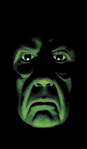 Green Demon Halloween Window Poster Decoration
