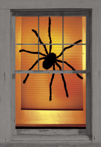 Black Widow poster shown in a window