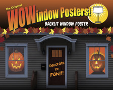 Happy Jack and Jack o Lantern Posters as seen in a house
