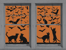 Cats and Bats posters shown in two windows