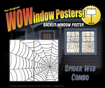 Spider webes as seen in a house