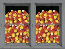 Candy Corn Posters shown in two windows