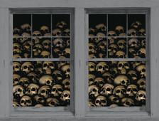 Skull posters shown in two windows