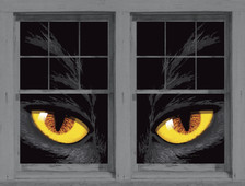 Yellow Cat Eyes shown in two windows