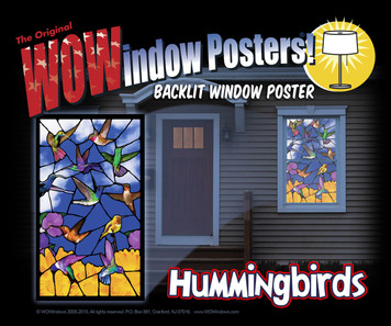 Hummingbirds Stained Glass Decorative Window Poster as seen from outside a house a night