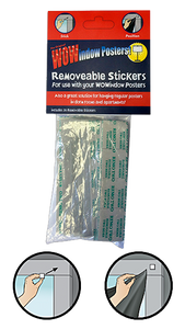 Package of removeable stickers