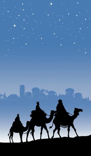 Christmas Magi Silhouette Poster -  Decorative Christmas Window Poster