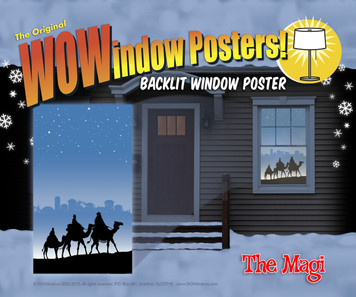 "Window Poster Christmas Magi Three Wise Men Silhouette by WOWindows USA-made Decoration includes One Reusable 34.5""x60"" Backlit Poster"