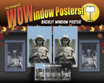 Angel to Demon Changing Halloween Window Poster Decoration shown as the night time demon in a house