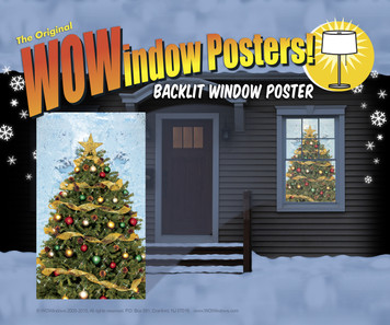 Christmas Tree WOWindow Poster Shown in a house